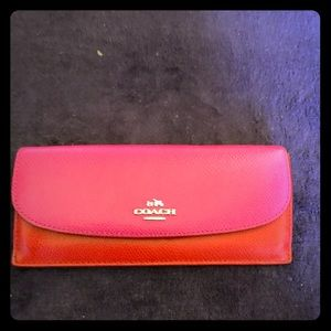 Beautiful Coach leather long wallet
